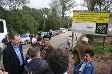 Obras de pavimentação integraram o roteiro de visitas na região