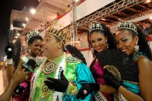Rei Momo exaltou presença do público nas arquibancadas nos dois dias