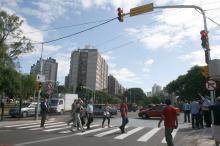 Pedestres também foram beneficiados com mudanças na Nilo Peçanha