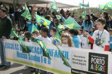 Desfile dos alunos é tradição nos festejos da independência