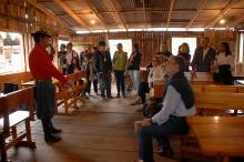 Visitas guiadas realizadas no Acampamento Farroupilha