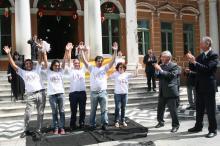 Equipe de educação para o trânsito da EPTC na apresentação do balanço de 2011