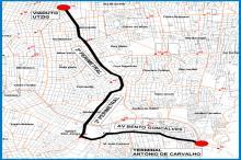 Linha sairá da Antônio de Carvalho em trajeto de 21,2 quilômetros de ida e volta