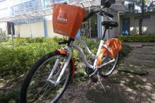 Bicicletas com aro 26, três marchas, retrovisor e buzina circulam no sábado