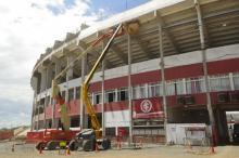Obras do Beira-Rio avançam no mês de novembro