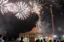 Festa inclui espetáculo pirotécnico com 12 minutos de fogos de artifício
