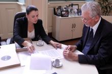 José Fortunati recebeu presidente da Fundação Bienal, Patrícia Druck