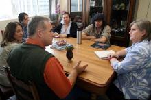 Renato Borghetti e secretária Celci definiram projeto para alunos da Rede