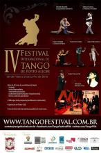 Cartaz do IV Festival Internacional de Tango