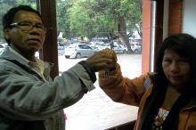 Cacique Akuab festejou a visibilidade que a loja de artesanato dará a sua etnia