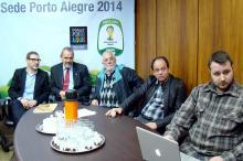 Secretários acompanham apresentação de projeto para a Copa do Mundo 2014