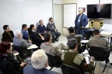 Reunião contou com representantes do Comando de Policiamento da Capital