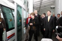 Fortunati fez a primeira viagem do veículo com a presidente Dilma Rousseff