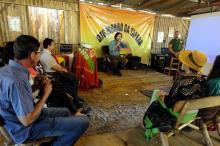 Participantes sentem a hospitalidade no Galpão e aprendem como se faz pão e cuca