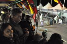 Prefeito em exercício Sebastião Melo acompanhou o evento no palanque oficial