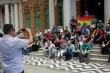 Grupo visitou o Mercado, Feira do Livro, Usina, Fundação Iberê e a Prefeitura