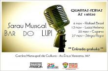 Sarau Musical no Bar do Lupi acontece sempre às quartas-feiras