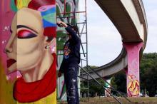 Ação de grafitagem está colorindo entorno do Beira-Rio