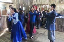 Alunas do curso de Letras da Ufrgs, elas participaram de Danças de Invernada