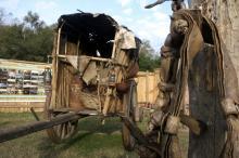 Rancho de couro é atração no local