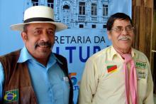 Organizadores do festival, José Estivalet e Albeni Carmo de Oliveira
