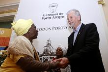 Prefeito José Fortunati recebeu Mãe Maria e demais integrantes do centro