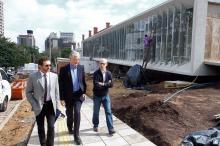 Prefeito visitou as obras do Centro, situado no bairro Três Figueiras