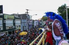 Bloco Tucurutá animou a tarde na Cidade Baixa neste domingo