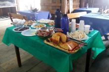 Refeição tem pratos oriundos de diversas etnias