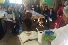 Mais de 20 pessoas participaram da oficina na tarde desse sábado