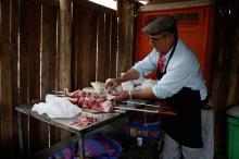 Somente no açougue no parque foram vendidas 36 toneladas de carne