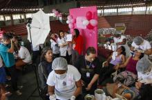 Desalojadas pelas cheias, moradoras das Ilhas receberam atenção da Saúde