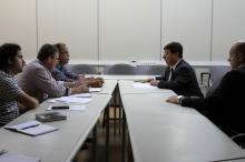 Secretário de Planejamento e Gestão, José Parode, recebe representantes do Simpa