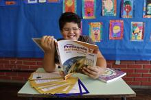 Miguel, 11 anos, é medalhista de bronze entre as escolas públicas