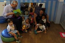 Poeta conversou com as crianças da Emei Florência Socias