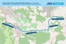 Nessa etapa da obra serão implantados 3,5 quilômetros de rede nos diâmetros