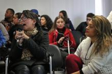 Participaram do encontro estudantes da rede municipal, familiares e educadores