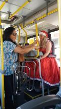 Passageira Loreni participou da primeira viagem do Ônibus de Natal