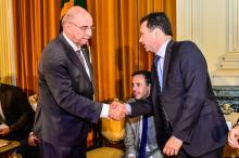Prefeito Nelson Marchezan Júnior participou da cerimônia no Palácio Piratini