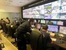 Equipe do Ceic acompanha ações através de câmeras instaladas em diversas regiões