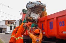 No mês de junho, a ação coletou 95,51 toneladas de resíduos