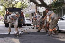 Trabalhos são executados pela Divisão de Conservação de Vias Urbanas