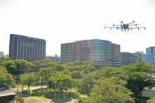 Drone foi testado no Parque Harmonia