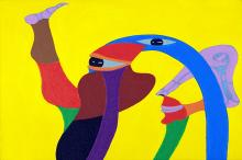 Exposição apresenta 20 recentes pinturas em tinta acrílica sobre tela